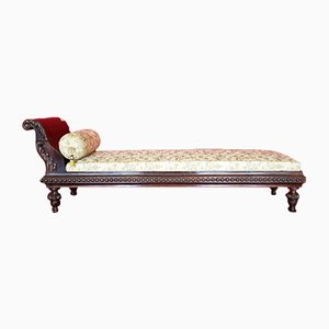 Chaise longue italiana antigua de madera
