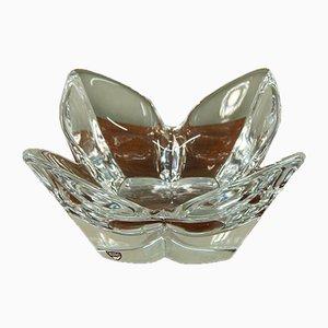 Schale aus Kristallglas von Sven Palmqvist für Orrefors, 1960er