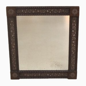 Dutch Rosewood & Silver Table Mirror, 1910s