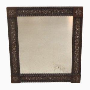 Espejo de mesa holandés de palisandro y plata, años 10