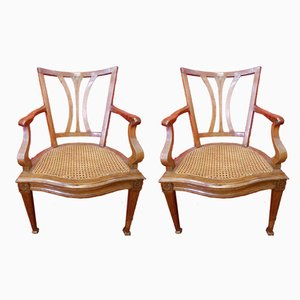 Antique Italian Luigi XVI Armchairs, Set of 2