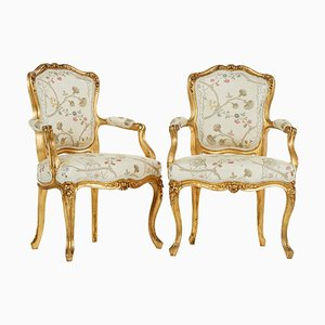 Louis XV Style Armchairs, 1900s, Set of 2
