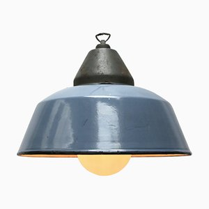 Industrial Cast Iron Pendant Lamp, 1950s