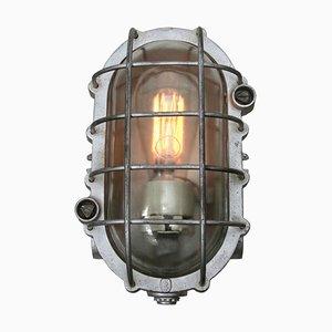 Industrielle Vintage Wandlampe aus Gussaluminium