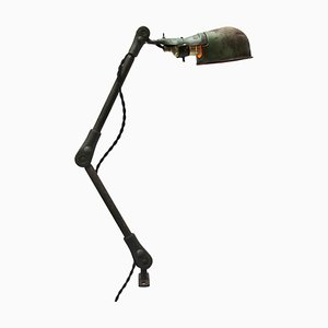 Industrielle amerikanische Schreibtischlampe aus Gusseisen, 1950er