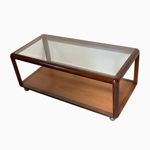 Mid-Century Glass Coffee Table, 1970s