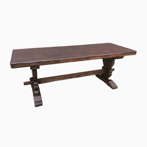 Large French Oak Monastery Table, 1950s