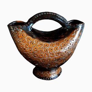Terracotta Fontana Ceramic Vase by Calonaci, 1950s