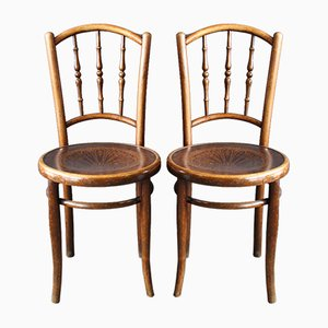 Art Nouveau Bentwood Cafe Stools from Jacob & Josef Kohn, Set of 2