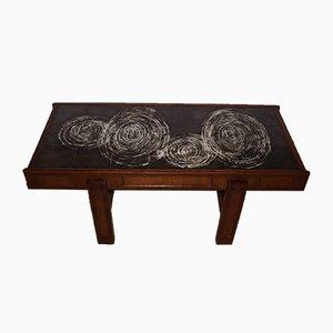 Tavolino da caffè in quercia e mattonelle di Juliette Belarti, anni '70
