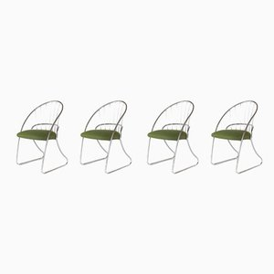 Mid-Century Chrome Dining Chairs from Daystrom, Set of 4