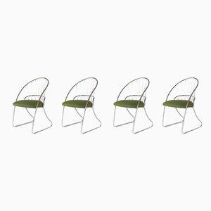 Mid-Century Esszimmerstühle mit verchromtem Gestell von Daystrom, 4er Set