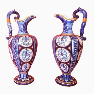 Antique Italian Ceramic Vases, Set of 2