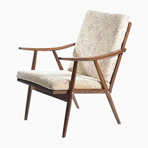 Mid-Century Armchair in Dark Beech from TON, 1960s