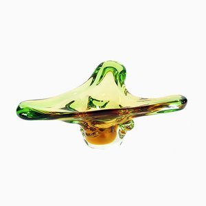 Scodella Mid-Century in vetro di Frantisek Zemek per Mstisov Glass Factory
