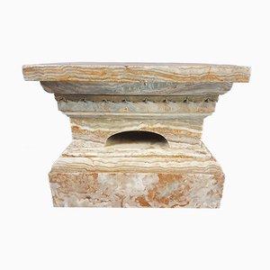 Pedestal de mármol con montura de ormolú, años 20