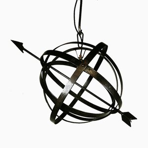 Antique Industrial Wrought Iron Weather Vane Ceiling Lamp