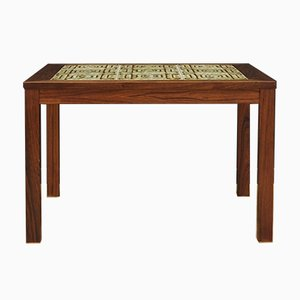 Mid-Century Ceramic and Rosewood Coffee Table, 1960s