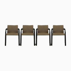 Beistellstühle mit Stoffbezug & Metallgestell von Michael Thonet, 1980er, 4er Set