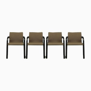 Fabric & Metal Side Chairs by Michael Thonet, 1980s, Set of 4