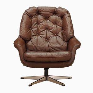 Mid-Century Leather Armchair, 1960s
