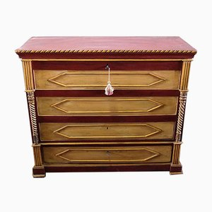 Antique Italian Lacquered Chestnut Dresser