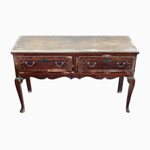 Antique French Chestnut Console Table