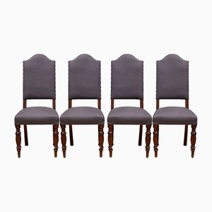 Antique English Dining Chairs, Set of 4