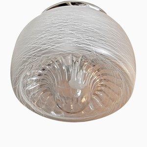 Aplique italiano vintage de cristal de Murano de Mazzega, 1974