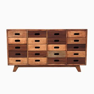 Beech and Mahogany Sideboard by James Leonard for ESA, 1950s
