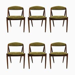 Dänische Modell 31 Esszimmerstühle aus Palisander von Kai Kristiansen für Schou Andersen, 1960er, 6er Set