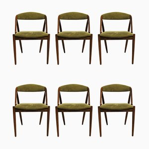 Model 31 Danish Rosewood Dining Chairs by Kai Kristiansen for Schou Andersen, 1960s, Set of 6