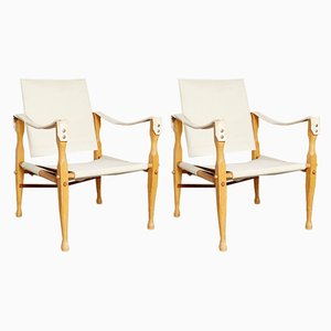 Vintage Beech Lounge Chairs, 1970s, Set of 2