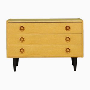 Mid-Century Danish Ash and Veneer Dresser, 1960s