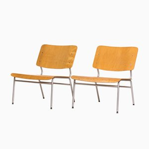 Metal and Plywood Lounge Chairs from IKEA, 1970s, Set of 2
