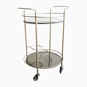 Vintage Metal & Smoked Glass Trolley, 1970s