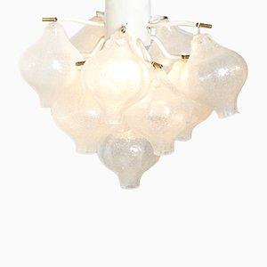 Lampada da soffitto in cristallo di J. T. Kalmar per Kalmar Franken KG, anni '70