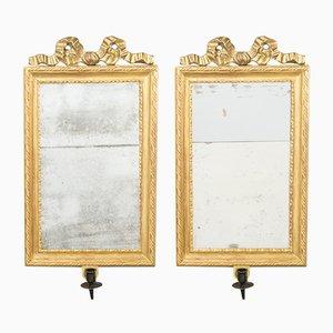 Antike gustavianische Spiegel, 2er Set