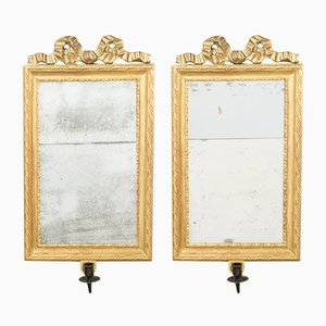 Antique Gustavian Mirrors, Set of 2