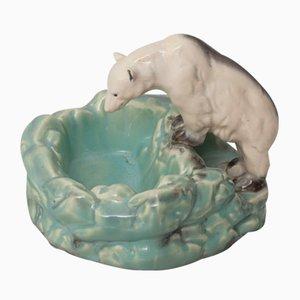 Sculpture Ours Polaire Vintage en Porcelaine de Ditmar Urbach
