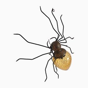 Italienische Mid-Century Wandleuchte aus Kupfer in Spinnen-Optik, 1960er