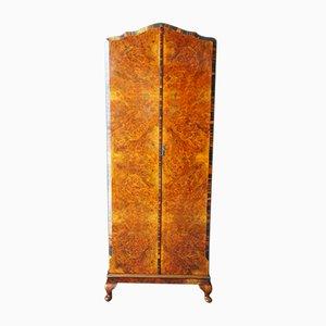 Antique Edwardian Burr Walnut Wardrobe with Rosewood Edging