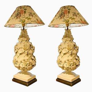 Lampes de Bureau en Céramique de Manises de Bondia, 1956, Set de 2