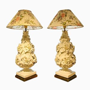 Manises Ceramic Table Lamps from Bondia, 1956, Set of 2