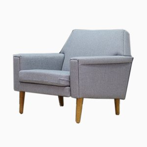 Mid-Century Danish Fabric Lounge Chair, 1960s