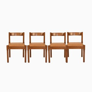 Modell Carimate Esszimmerstühle von Vico Magistretti für Cassina, 1960er, 4er Set