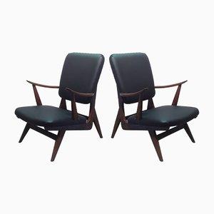 Teak Armchairs, 1950s, Set of 2
