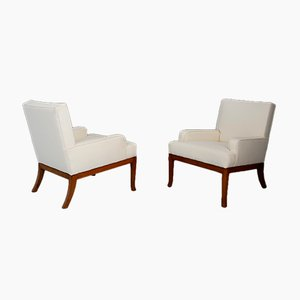 Art Deco Style Cherry Lounge Chairs by Robsjohn Gibbings, 1950s, Set of 2