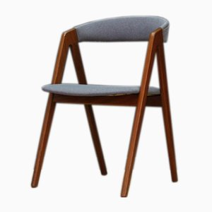 Mid-Century Danish Fabric and Teak Side Chair, 1960s
