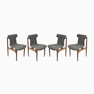 Model IK Rosewood Dining Chairs by Inger Klingenberg for Fristho, 1960s, Set of 4